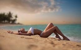 Hot Beach Bikini Girl Desktop Wallpaper free download hd wallpapers of