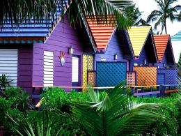 Colorful Houses, Bahamas 1174