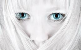 White Hair Beautiful Blue Eyes HD Wallpapers