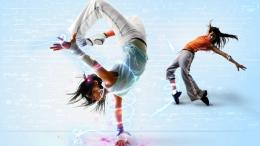 Freezing Breakdance Hd Wallpaper with 1366x768 Resolution