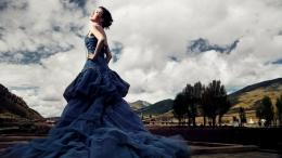 Blue Wedding Dresses 2013 Background HD Wallpaper Blue Wedding Dresses