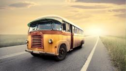 wallpapers animated classic bus on road artistic hd wallpapers 817
