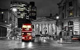 road blur night bus england london black and white street city 1124