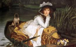 boat youn lady classic art hd wallpapers free download classic 318