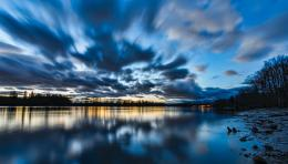 tags lakes blue british canada clouds columbia evening lake reflection