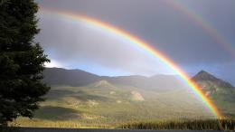lake atlin double rainbow british columbia ultra hd wallpapers 4k