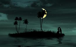 Love Under Moon HD Wallpaper