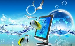 Digital Blue Art Laptop Cute Wallpapers HD Pics With Resolutions 1440