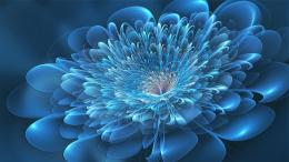 Blue Flowers Deviantart Digital Art 1920x1080 Hd Wallpaper
