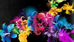 colorful flowers wallpapers photoshop