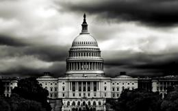 House America Black White Photography Dark Clouds HD Desktop Wallpaper