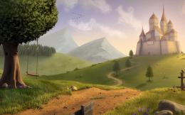 Castle wallpaper landscape wallpapers dream fantasy abstract desktop 1059
