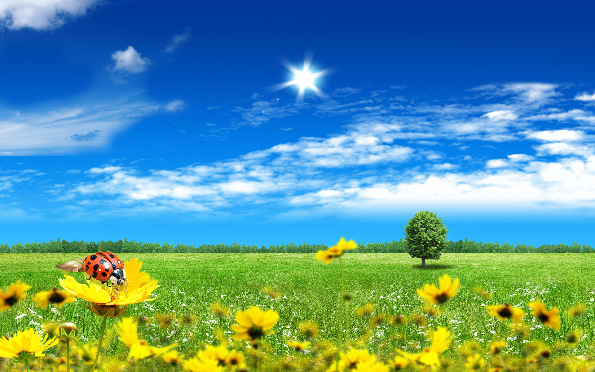 summer fantasy landscape for desktop wallpaper cool desktop background 1905