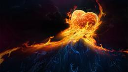 Wallpaper: abstract fire love hd wallpapers