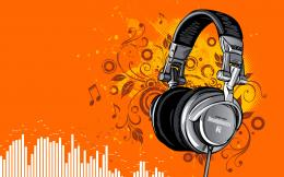 Dynamic Stereo Headphones Music Wallpaper with 1920x1200 Resolution