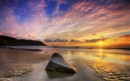 Beach sunset hd Wallpapers Pictures Photos Images