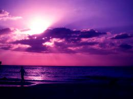 Purple Sunset On The Beach 9615 Hd Wallpapers