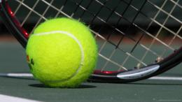 Download Tennis Green Ball And Racket HD WallpaperSearch more high