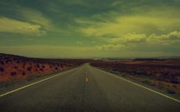 vintage old desert road wallpaper