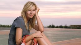 Cute Maria Sharapova Sunset HD Background 1321