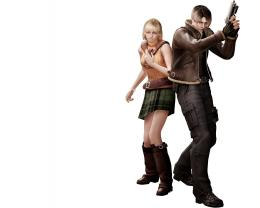 Leon scott kennedy and ashley horror evil 4 1280