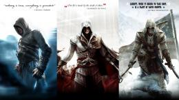 Assassins Creed: Altair, Ezio and Connor by okiir 844