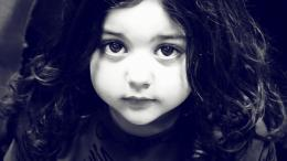 baby girl black and white background high definition wallpaper jpg 814