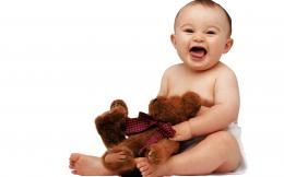 Cute Baby with Teddy 1341