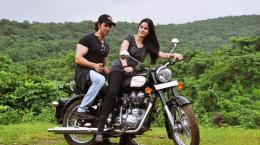 Katrina Kaif and Hrithik Roshan on Bike Bang Bang Hindi Film HD Image 525