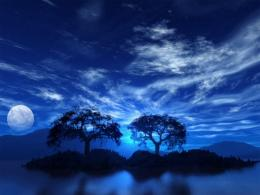1152x864 Blue sky and moon desktop PC and Mac wallpaper 1326