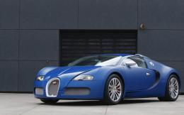 Blue Bugatti Veyron Car Wallpapers 1224