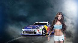 Wallpapers car girl pixel wallpaper drift girls cars large Cars HD 1764