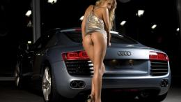 Car Girl And Hd Wallpaper with 1366x768 Resolution 572