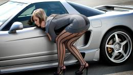 Hot Glamor Girl And Car 1080p HD Wallpaper 1979