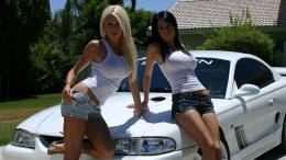 hot girls and carCars Wallpaper 1795