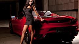 Ferrari Girl HD Widescreen Wallpapers Car 449