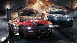 car racing car with bridge destroyed background hd wallpapers 1920 x 767