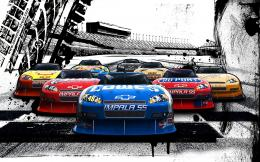 nascar racing race cars wallpaper background 1610