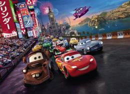 Wall MuralCARS RACE from PIXAR DISNEY184x254cm 1935