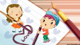 Cartoon characters writes Love Letter 1449