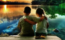 Cute Kid Couple In Love HD Wallpaper 1280 x 800 891