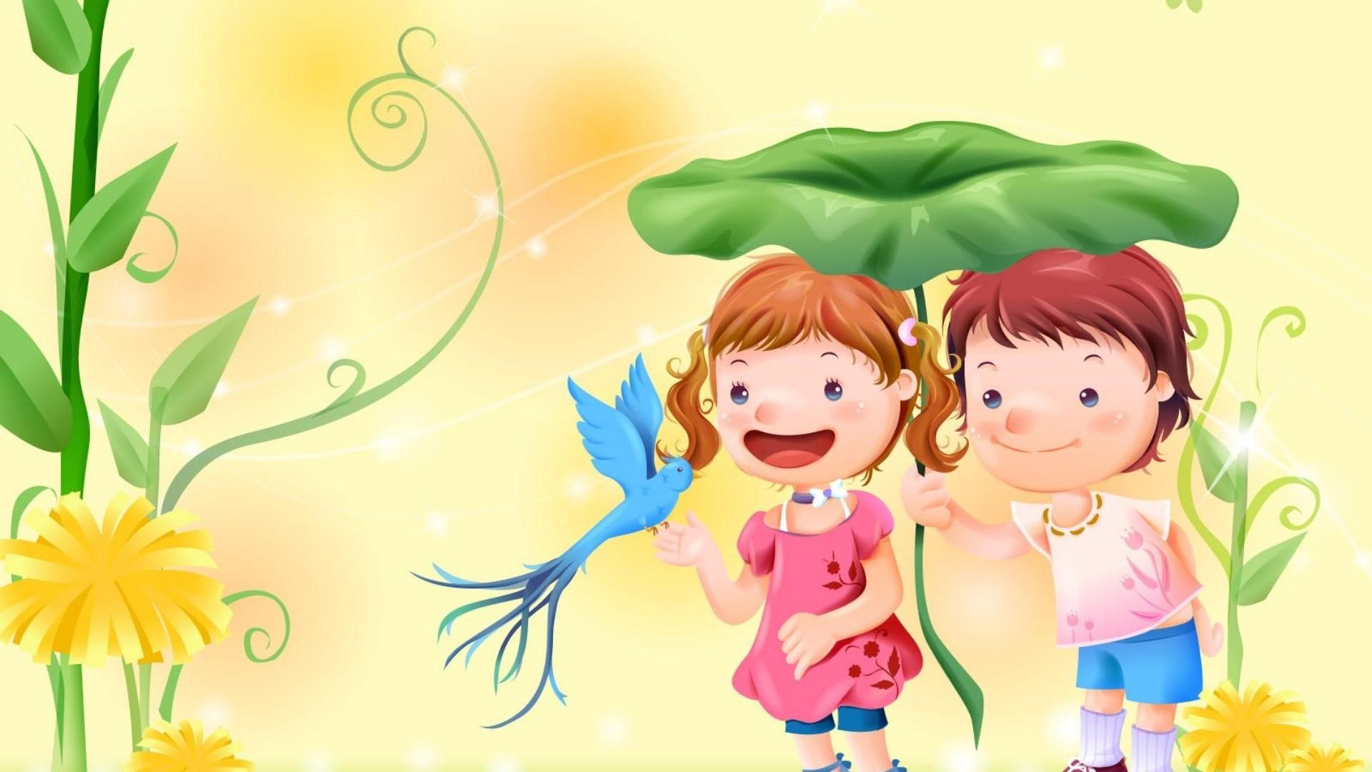21 children wallpapers wallpaper other cartoons romantic cartoon HD 603 :: children Love Hd ...