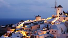 Coast architecture buildings town greece historic evening 1823