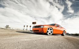 Orange Dodge Challenger Desktop Wallpaper Background Desktop Wallpaper 1648