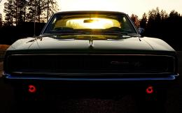 Dodge Challenger Muscle Car Shining Sunlights Photography HD Desktop 470
