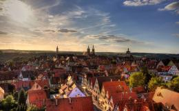 Download: Sunset at Rothenburg HD Wallpaper 997