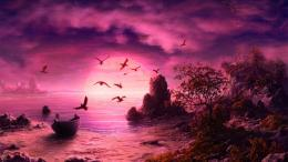 Purple Sunset wallpapers and images 1419
