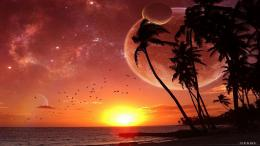 for fantasy sunset wallpaper fantasy sunset download this wallpaper 1619