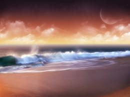 Fantasy Ocean Sunset Wallpaper 1042