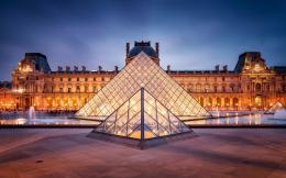 Paris France Louvre City Lights HD Wallpapers 232